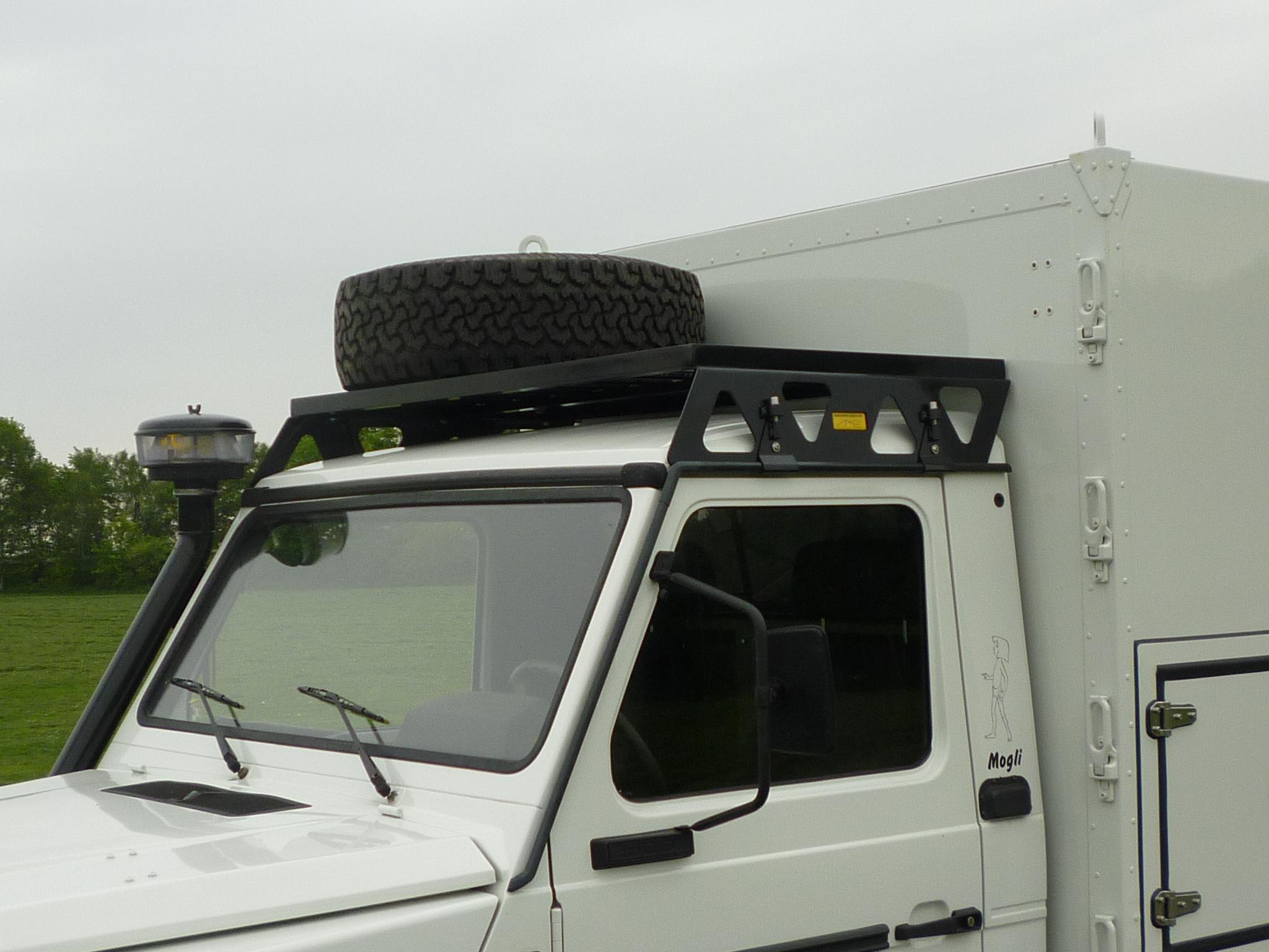 Aluminiumsnorkel Mercedes G 463 links mit Zyklon Vorfilter