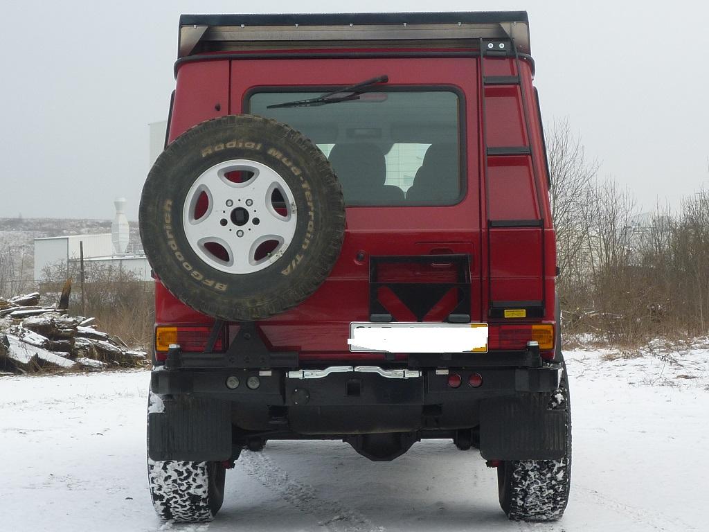 Kanister/Hi-Liftträger 2 Kanister für Heckstoßstange Mercedes G